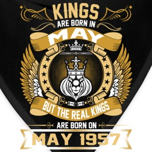 The Real Kings Are Born On May 1957 T-Shirts - Bandana