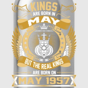 The Real Kings Are Born On May 1957 T-Shirts - Water Bottle