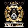 The Real Kings Are Born On May 1966 T-Shirts - Men's Premium T-Shirt