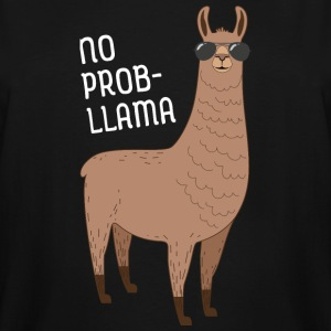 No Prob-Llama | Cool Llama with sunglasses Design T-Shirts - Men's Tall T-Shirt