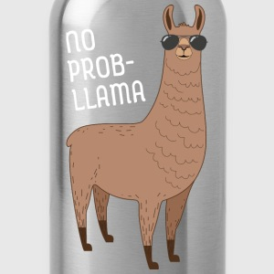 No Prob-Llama | Cool Llama with sunglasses Design T-Shirts - Water Bottle