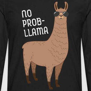 No Prob-Llama | Cool Llama with sunglasses Design T-Shirts - Men's Premium Long Sleeve T-Shirt