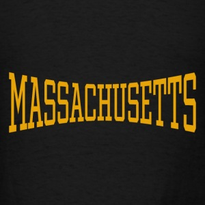 Massachusetts Yellow Hoodie Black - Men's T-Shirt