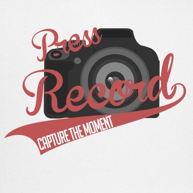 Press Record Baseball T