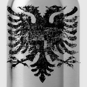Albanian Flag Grunge - Water Bottle