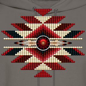 Native American Beadwork 11 - Men's Hoodie
