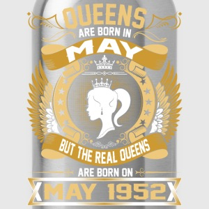 The Real Queens Are Born On May 1952 T-Shirts - Water Bottle