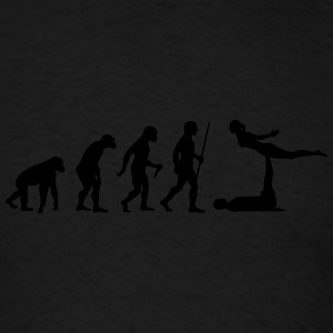 Evolution Acro | Funny Yoga Design Tanks - Men's T-Shirt