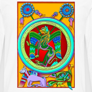 Celtic Illumination - Winged Lion - Men's Premium Long Sleeve T-Shirt