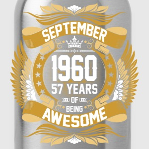 September 1960 57 Years Of Being Awesome T-Shirts - Water Bottle