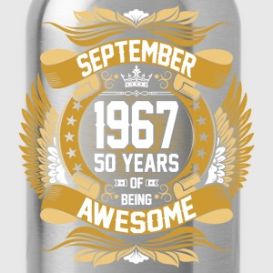 September 1967 50 Years Of Being Awesome T-Shirts - Water Bottle