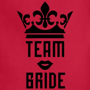 Team Bride Crown kissing Lips Mouth luxury T-Shirt - Adjustable Apron