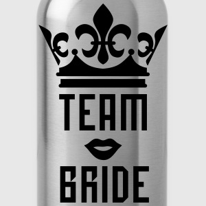 Team Bride Crown kissing Lips Mouth luxury T-Shirt - Water Bottle