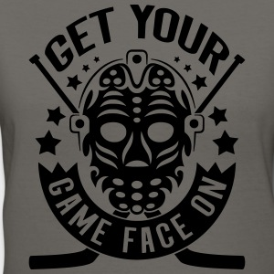 Get Your Game Face On (Hockey) Hoodies - Women's V-Neck T-Shirt