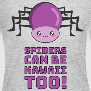 Spiders Can Be Kawaii Too T-Shirts - Women's Long Sleeve Jersey T-Shirt