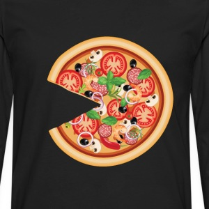 Pizza with Missing Slice Matching Couples T-shirt T-Shirts - Men's Premium Long Sleeve T-Shirt
