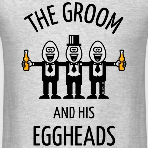 The Groom And His Eggheads (Stag Night / 3C / POS) - Men's T-Shirt