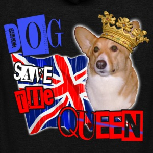 dog save the queen london 2012 celebration tee welsh corgi. T-Shirts - Unisex Fleece Zip Hoodie by American Apparel