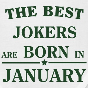 The best jokers are born January T-Shirts - Bandana