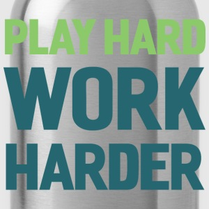 Football. Play Hard. T-Shirts - Water Bottle