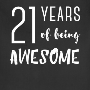 21st birthday - 21 years of being awesome - Adjustable Apron