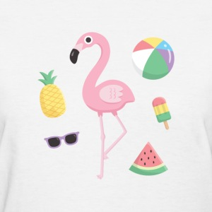 Flamingo Beach Summer T-Shirts - Women's T-Shirt