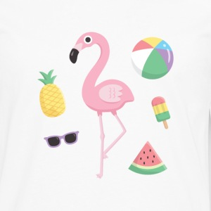 Flamingo Beach Summer T-Shirts - Men's Premium Long Sleeve T-Shirt