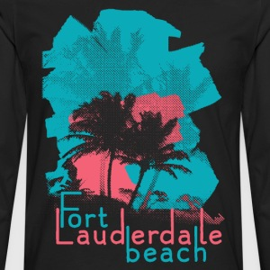 Palm Trees on Fort Lauderdale Beach T-Shirts - Men's Premium Long Sleeve T-Shirt