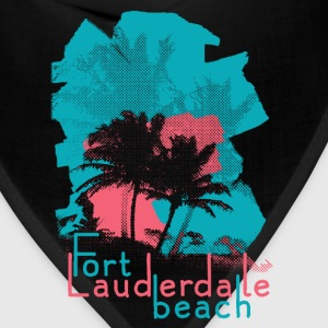 Palm Trees on Fort Lauderdale Beach T-Shirts - Bandana