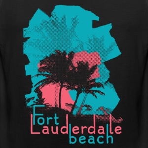 Palm Trees on Fort Lauderdale Beach T-Shirts - Men's Premium Tank