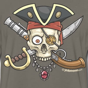 Yobeeno Pirate Skull T-Shirts - Men's Premium Long Sleeve T-Shirt