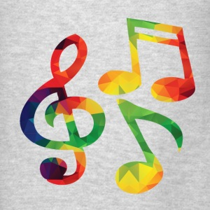 Colorful music notes - Men's T-Shirt