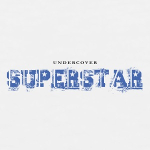 Undercover Superstar. Funny Coffee Mug  Design - Men's Premium Tank