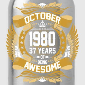 October 1980 37 Years Of Being Awesome T-Shirts - Water Bottle