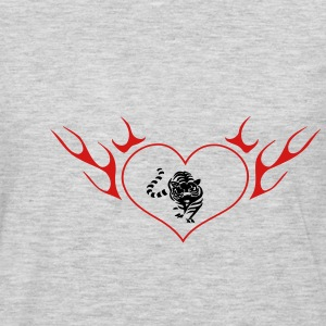 Lion in the flame heart - Men's Premium Long Sleeve T-Shirt