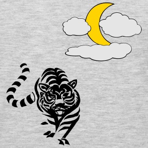 Lion with Moon and clouds - Men's Premium Long Sleeve T-Shirt