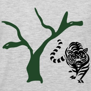 Tree with a lion - Men's Premium Long Sleeve T-Shirt