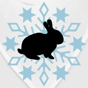 Rabbit before snow flake - Bandana