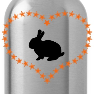 Bunny in the stars of heart - Water Bottle