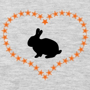 Bunny in the stars of heart - Men's Premium Long Sleeve T-Shirt