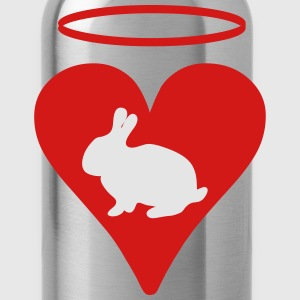 Rabbit heart Halo - Water Bottle