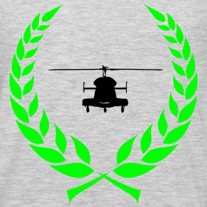 Helicopter laurel wreath - Men's Premium Long Sleeve T-Shirt