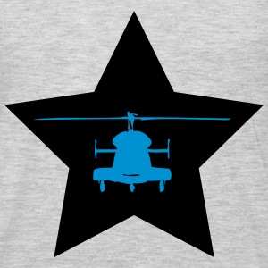 Helicopter star - Men's Premium Long Sleeve T-Shirt