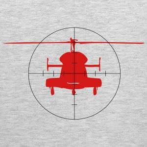 Helicopter in the crosshairs - Men's Premium Tank