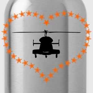 Heli heart asterisk - Water Bottle