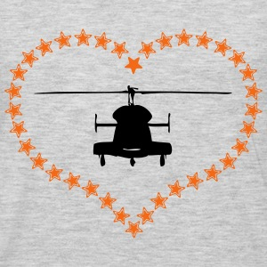 Heli heart asterisk - Men's Premium Long Sleeve T-Shirt