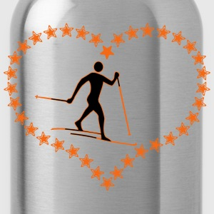 Cross-country star heart - Water Bottle