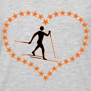 Cross-country star heart - Men's Premium Long Sleeve T-Shirt