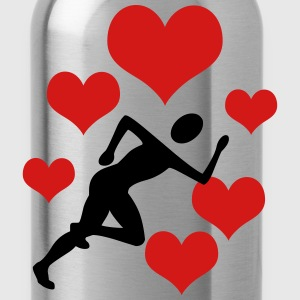 Jogger with 5 hearts - Water Bottle