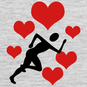 Jogger with 5 hearts - Men's Premium Tank